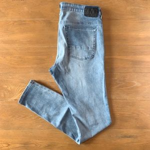 PacSun Stacked Skinny Light Wash Denim